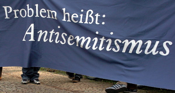 Das Problem heißt: Antisemitismus. Foto: dpa picture-alliance / ZB – Fotoreport / Peter Endig.